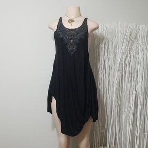 FREE PEOPLE EMBROIDERED/BEADED JAGGED CUT TOP!